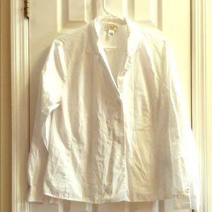 Talbots button didn't white shirt size 14